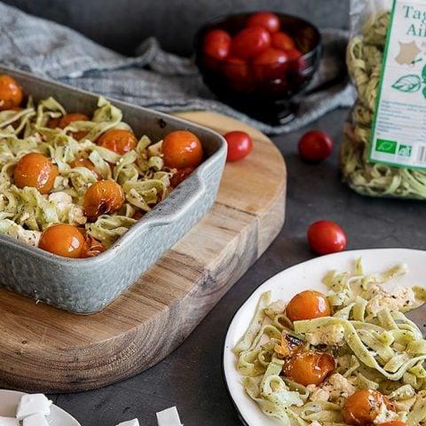 Tagliatelles aux tomates cerises et feta
