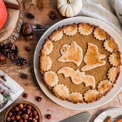 Gâteau d'Halloween citrouille et noix